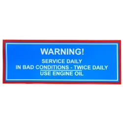 Decal TEF 20 Service Daily