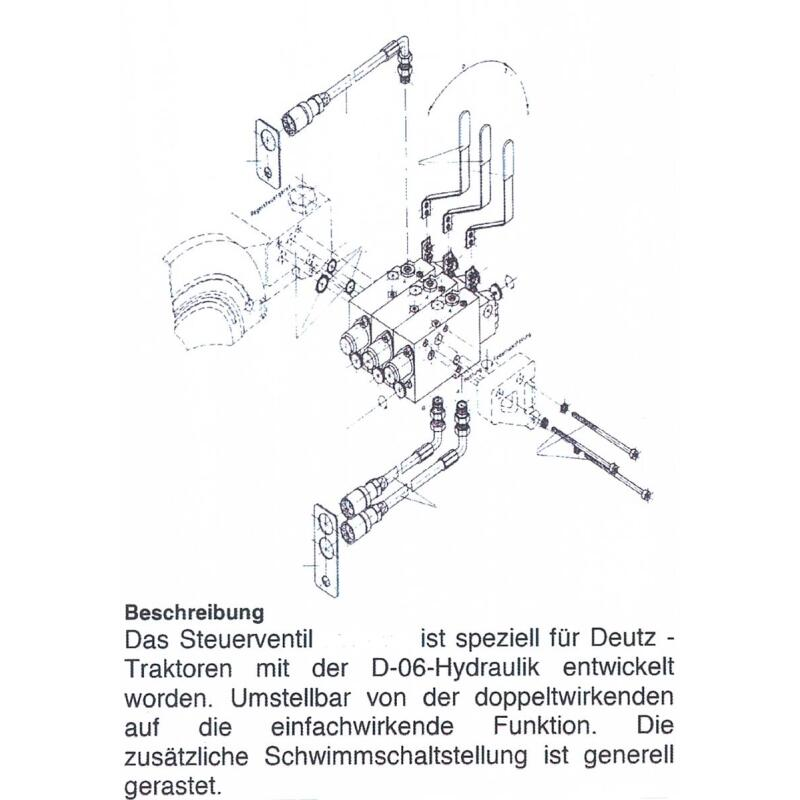Steuergerät SD 60 Zwischen-Steuergerät Hydraulik für Deutz 02333730