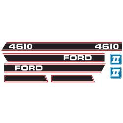 Aufkleber Ford 4610 Force 2 Rot & Schwarz